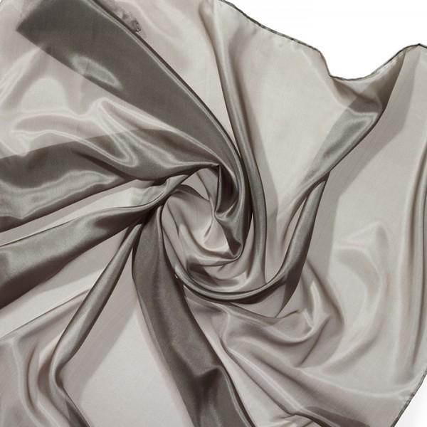 Tuch Seide Pongé 05 90x90cm khakigrün 100% Seide