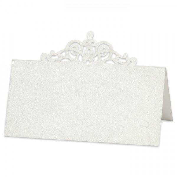 exkl. Platzkarte Ornament 107x54mm 10 St. cremef. Karton 230g/m²