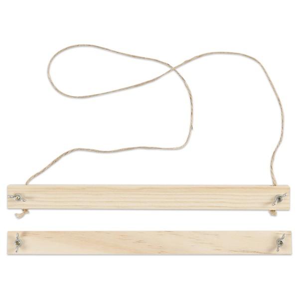 Bilderleisten Set DIN A4 Holz 25x2x2,2cm natur Fixierung von Bildern, inkl. Aufhängeschnur