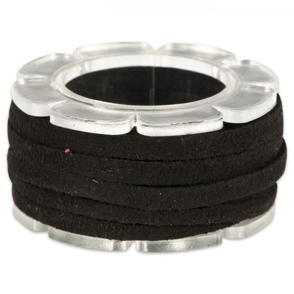 Veloursband textil 1,5 stark 3mm breit 2m schwarz