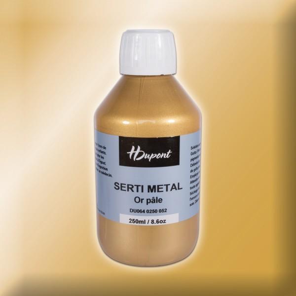 H.Dupont Serti Eau Gutta 250ml Or Pale/gold Konturenfarbe, Dampffixierung