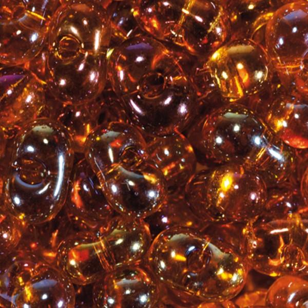 Farfalle transparent 6,5mm 17g dunkeltopas AB Glas, Lochgr. ca. 1mm