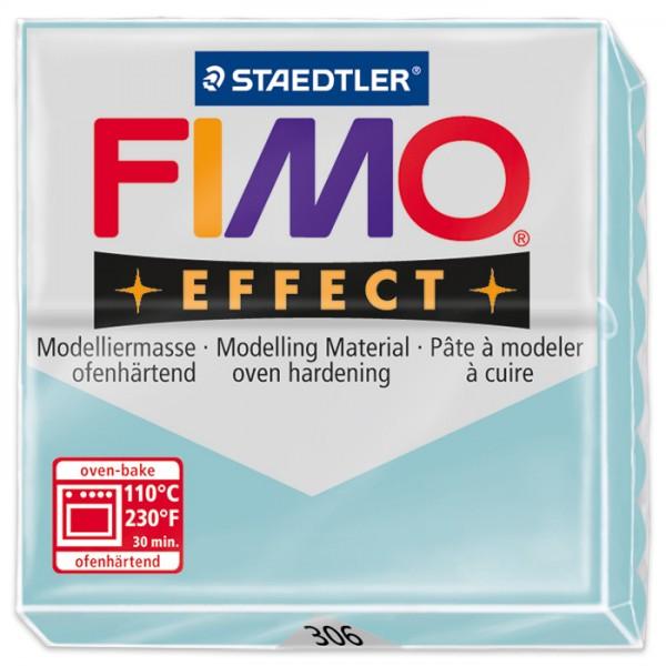 FIMO effect 55x55x15mm 57g Edelst. eiskristallblau ofenhärtende Modelliermasse