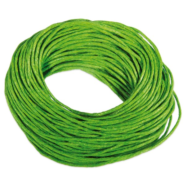 Kordel gewachst 1mm 10m grün 50% Baumwolle, 50% Polyester