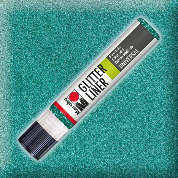 Marabu Glitter Liner 25ml petrol universelle Effektfarbe