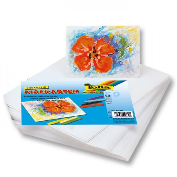 Malkarten DIN A6 100 Bl. weiß