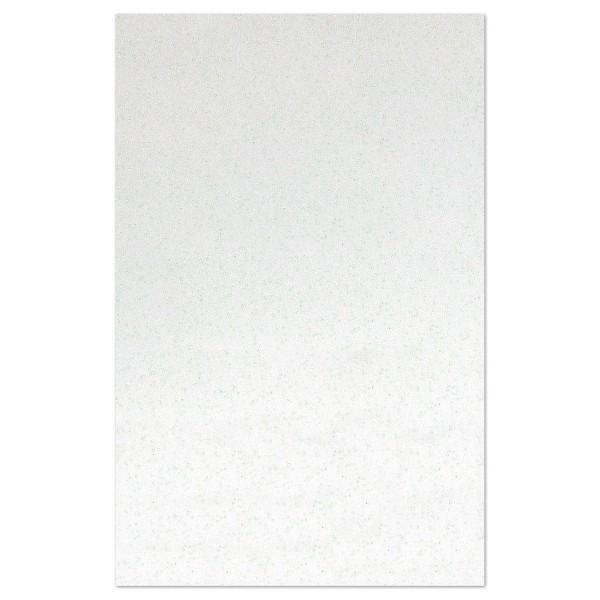 Glitzer-Moosgummiplatte 2mm 20x31cm weiß Rückseite weiß