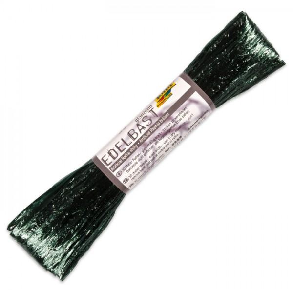 Edelbast glänzend Kunstfaser 30m tannengrün