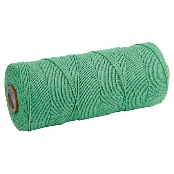 Baumwollkordel 2mm 225g ca. 100m hellgrün 85% Baumwolle 15% Polyester