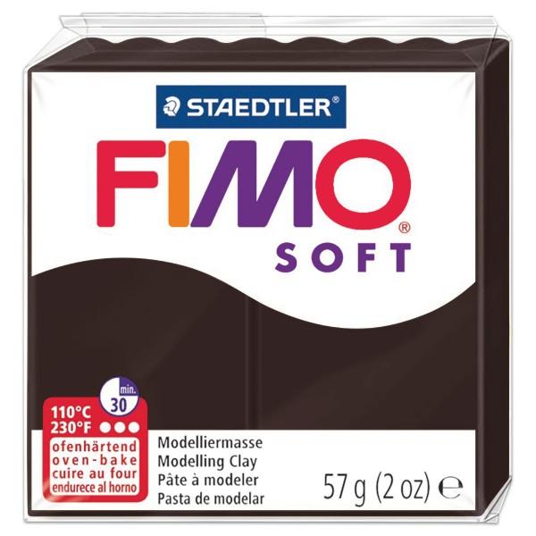 FIMO soft 55x55x15mm 57g schokolade ofenhärtende Modelliermasse