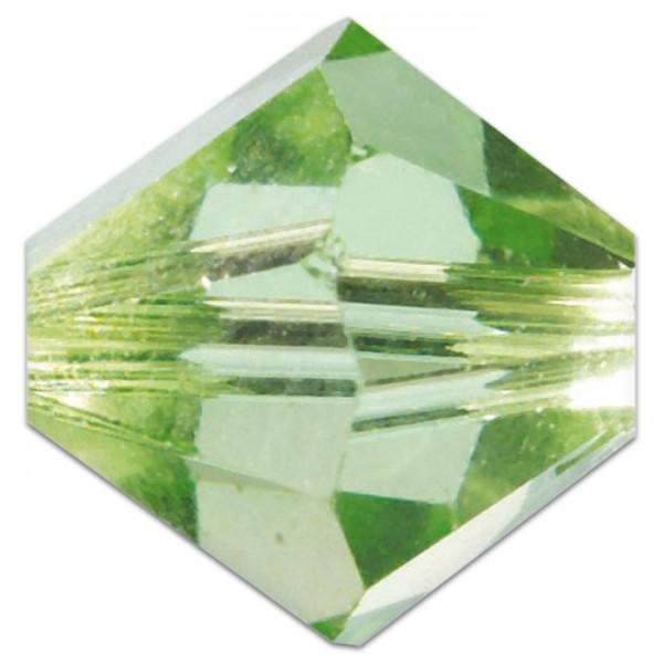 Glasschliffperlen 6mm 12 St. peridot Swarovski, Lochgr. ca. 0,9mm