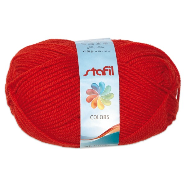 Wolle Colors 50g karminrot LL ca.133m, Nadel Nr. 3, 100% Polyacryl