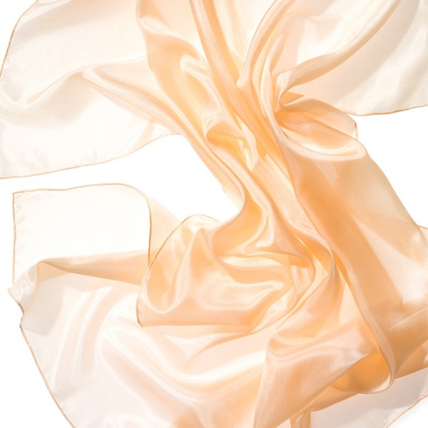 Tuch Seide Pongé 05 90x90cm apricot 100% Seide