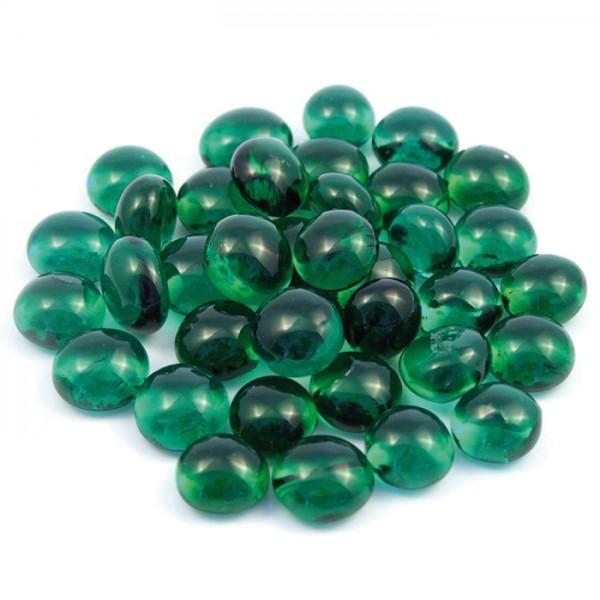 Glasnuggets Ø10-12mm 100g grün ca. 85-90 Steine