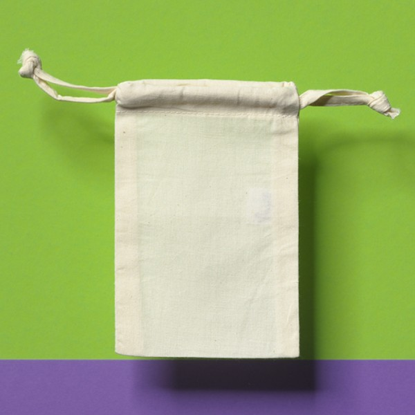 Beutel mit Zugband 10x15cm natur 100% Baumwolle
