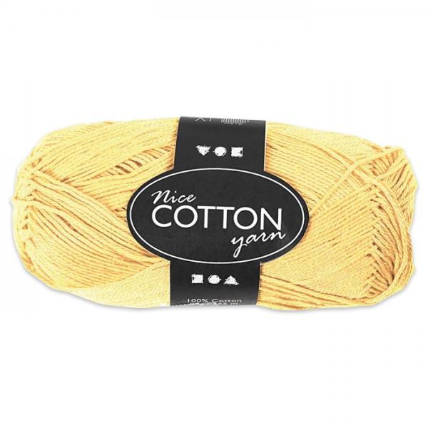 Baumwollgarn 50g gelb 100% Baumwolle, für Nadel Nr. 3-3,5