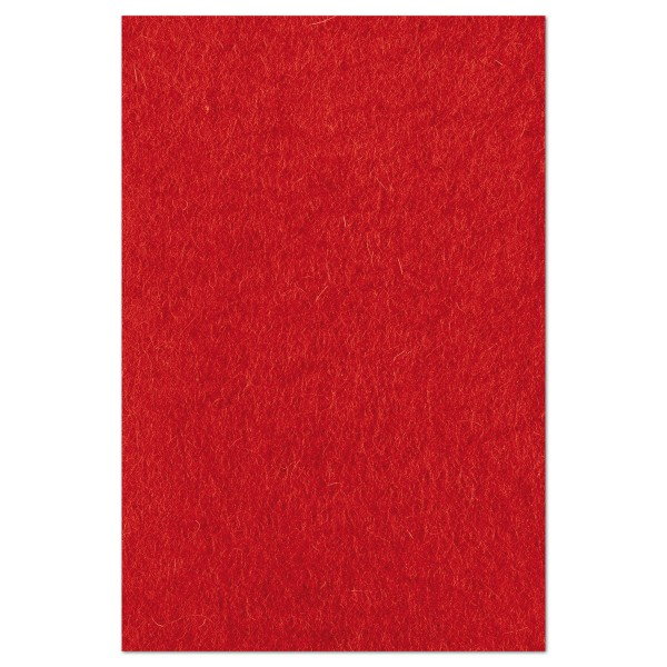 Wollfilz ca. 1-1,2mm 20x30cm rot 100% Wolle