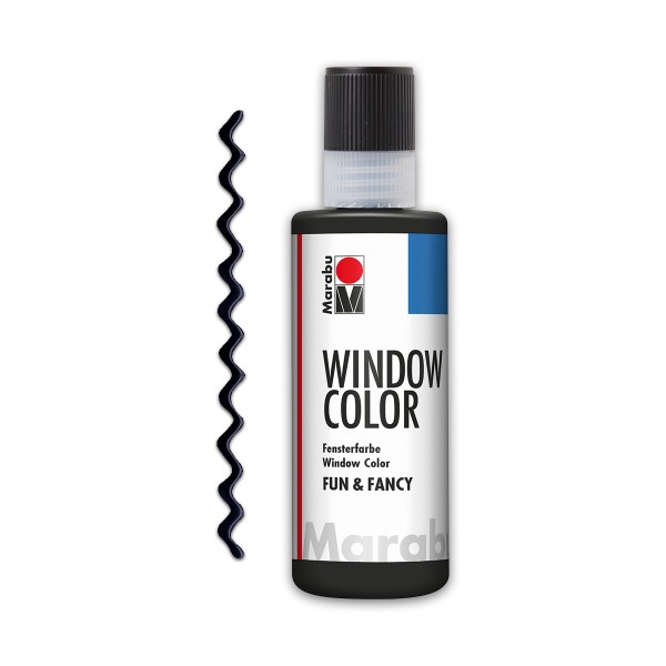 Marabu fun&fancy 80ml Konturschwarz Windowcolor