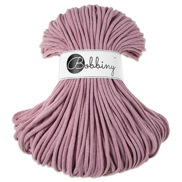 Bobbiny Rope-Garn Premium Ø5mm dusty pink ca. 400g-500g, 100% Baumwolle, LL 100m, Nadel Nr. 10-12