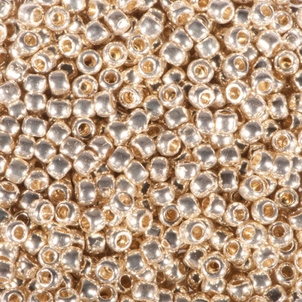 TOHO-Beads Glas 2,2mm 9g silberfarben metallic Lochgr. ca. 0,9mm