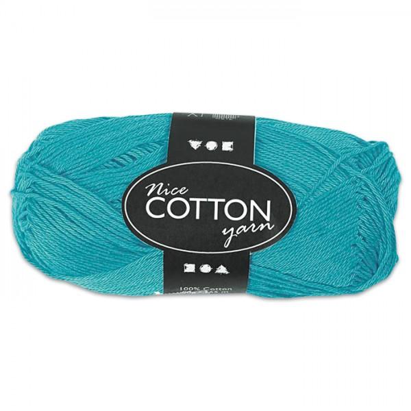 Baumwollgarn 50g türkis 100% Baumwolle, für Nadel Nr. 3-3,5