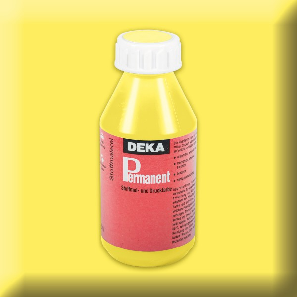 Deka-Permanent Stoffmalfarbe 125ml zitron