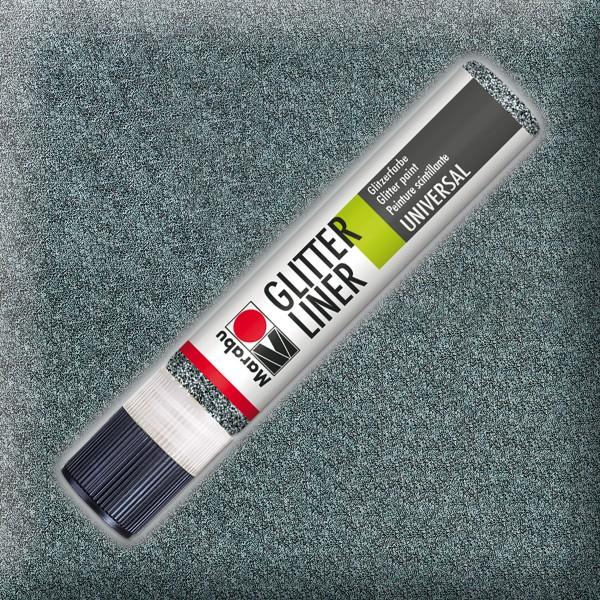 Marabu Glitter Liner 25ml graphit universelle Effektfarbe