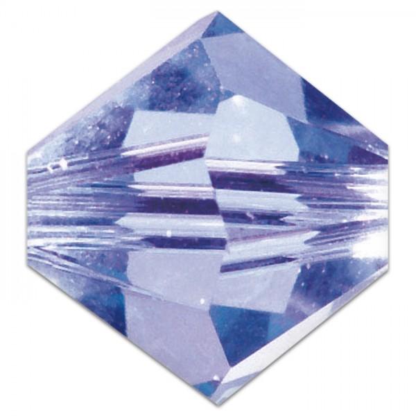 Glasschliffperle 4mm 25 St. violett Swarovski, Lochgr. ca. 0,9mm