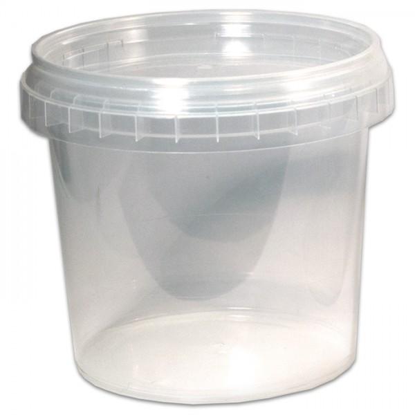 Kunststoffbecher mit Deckel 365ml transparent