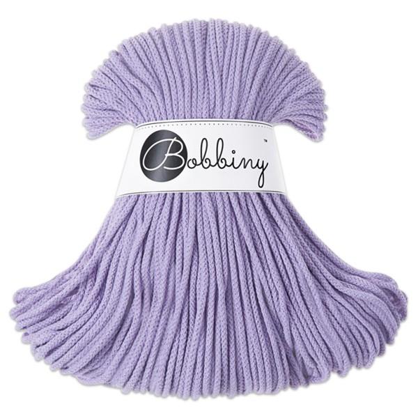 Bobbiny Rope-Garn Junior Ø3mm lavender ca. 200g-300g, 100% Baumwolle, LL 100m, Nadel Nr. 8-10