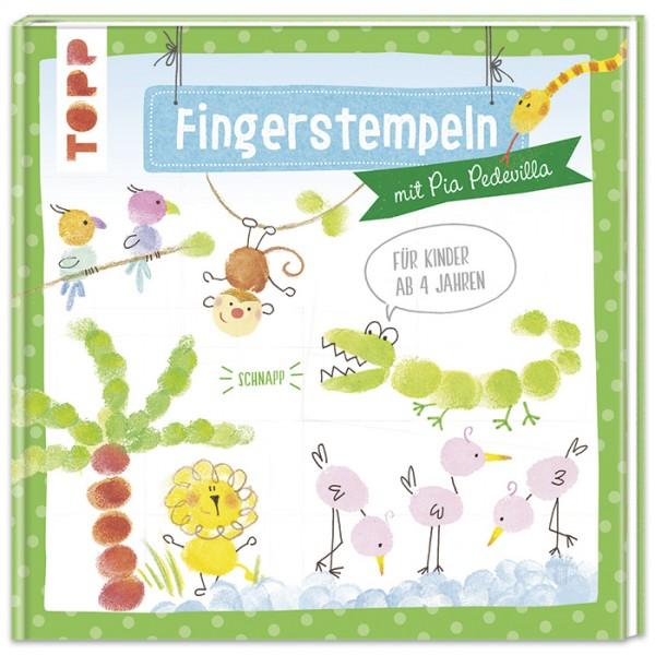 Buch - Fingerstempeln mit Pia Pedevilla ab 4 Jahren, 48 Seiten, 20,5x20,5cm, Hardcover