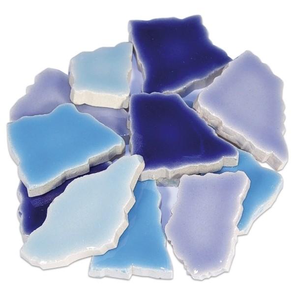 Flip-Keramik 2-6cm 3kg ca. 260 Steine blau mix ca. 6,5mm