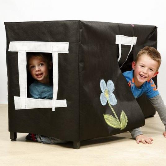 Höhle für Kinder aus Stoffimitat