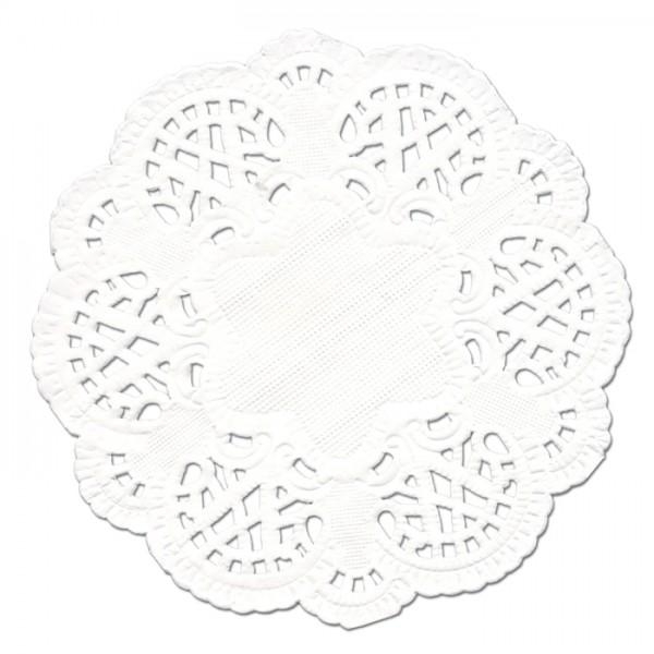 Tortenspitze Papier Ø 10cm 50 St. weiß