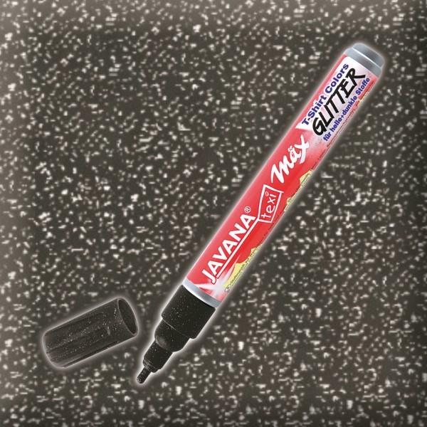 Texi-Mäx Stoffmalstift Glitter schwarz Strichbreite 2-4mm