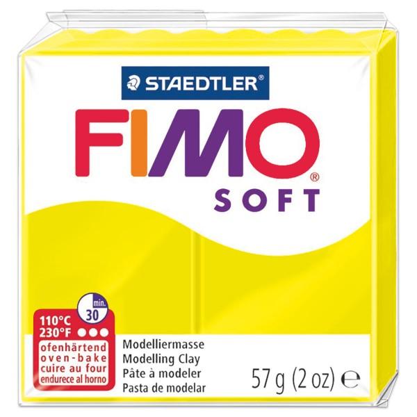 FIMO soft 55x55x15mm 57g limone ofenhärtende Modelliermasse
