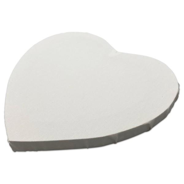 Keilrahmen ca. 20,9x20,9x1,6cm 12er-Set Herz 100% Leinen