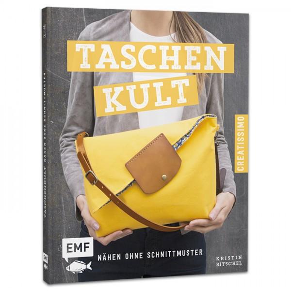 Buch - Taschenkult - Nähen ohne Schnittmuster 64 Seiten, 17x21cm, Hardcover