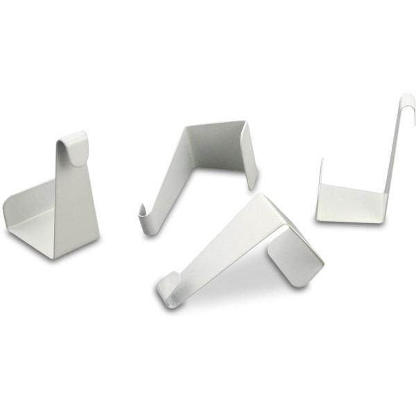 Fenster- & Türhaken Metall 8 St. weiß ca. 24x42mm, 22mm tief
