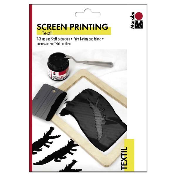 Screen Printing Textil Flyer mit Anleitung DIN A5 gratis, T-Shirts & Stoff bedrucken