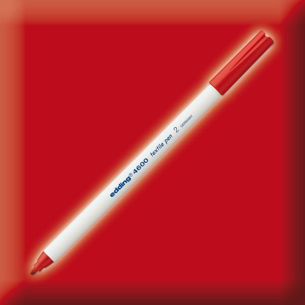 edding 4600 Textilstift rot Strichbreite 1mm
