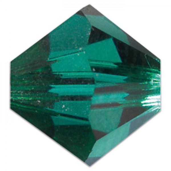 Glasschliffperlen 6mm 12 St. emerald Swarovski, Lochgr. ca. 0,9mm