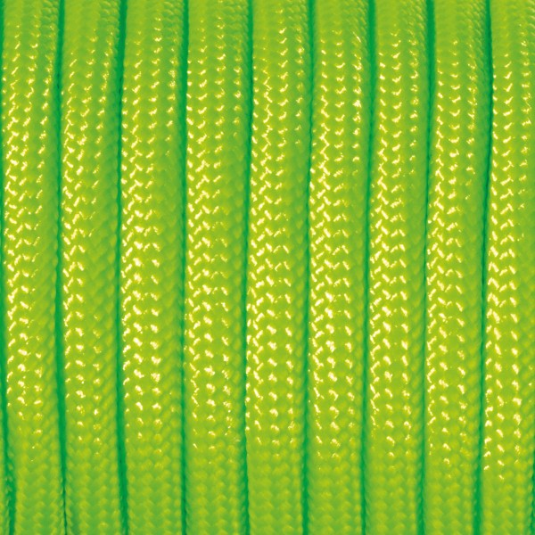 Paracord-Garn rund 4mm 4m hellgrün Makramee-Knüpfgarn, 60% Polypropylen, 40% Polyester