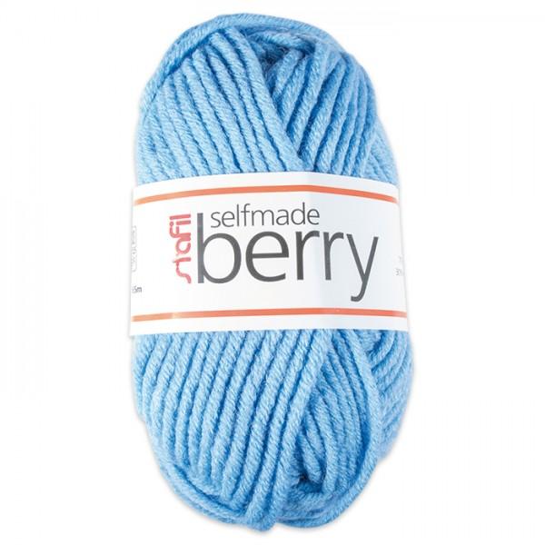 Wolle Berry 6-7mm 50g hellblau 70% Polyacryl, 30% Wolle