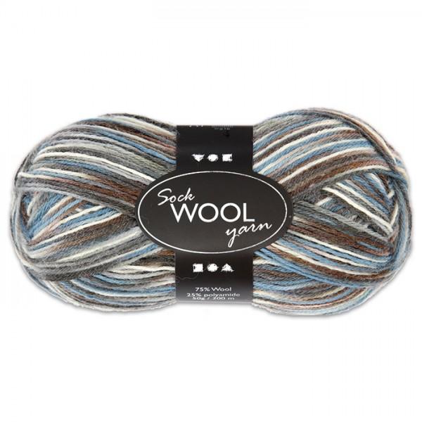 Sockenwolle 50g blau-grau 75% Wolle, 25% Polyamid, für Nadel Nr. 2,5-3