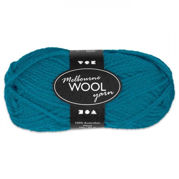 Garn Melbourne Filzwolle 50g petrol 100% Wolle, LL 92m, Nadel Nr. 4