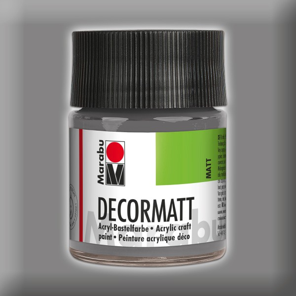 Decorlack Acryl matt 50ml hellgrau