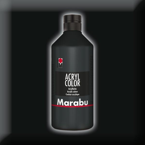 Marabu Acryl Color 500ml schwarz