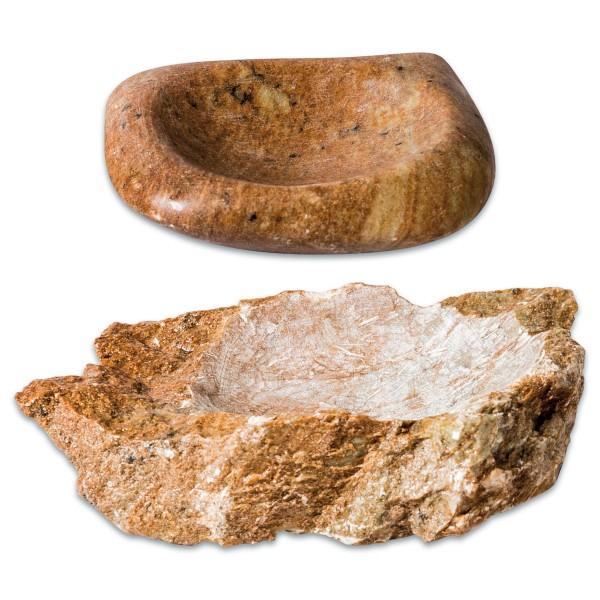 Schale Speckstein ca. 500-600g ca. 15x15x3cm Form&Farbe zufällig, Maße variieren