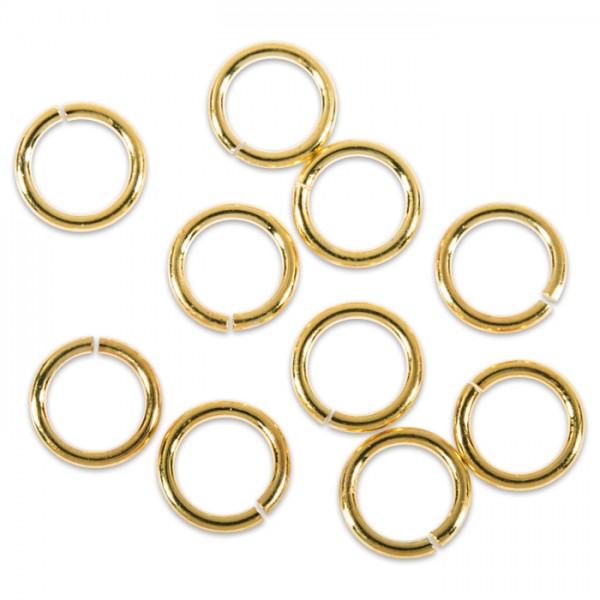 Spaltring/Zwischenring Metall 10mm 20 St. goldf. einfach, offen